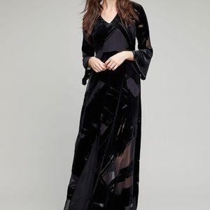 Anthro Seen Worn Kept Selina Velvet Maxi Dress